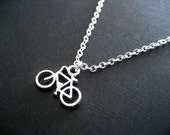 Teeny Bicycle Necklace