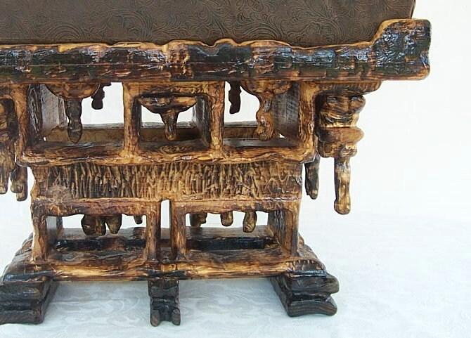Ottoman Mini Coffee Table By Kuczerascrazycarving On Etsy