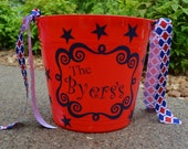 Personalized bucket-storage, Patriotic, Memorial Day, 4th of July, Labor Day