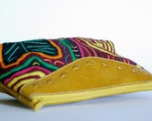 Mola/Yellow Leather Cosmetic bag, South Industry accessories