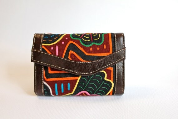 South Industry Tri Fold womens wallet, Mola/ dark brown leather.