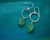 Beach Glass Earrings: Clovers
