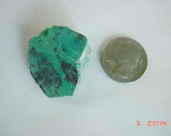 Turquoise Green Chrysocolla Stone Slab Wire Wrap Cutting Material