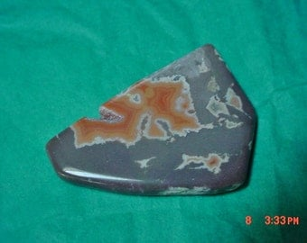 Montana Peach and Gray Dryhead Dry Head Agate Tumbled Polished Small Free Form Wrap Cut It