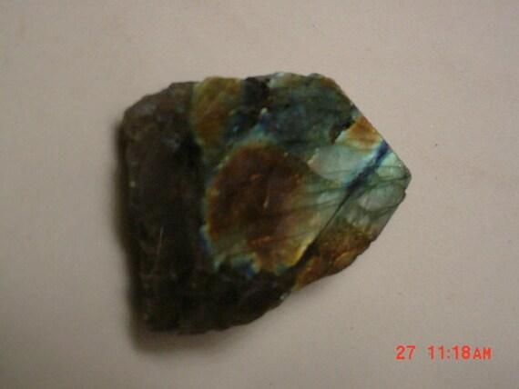 Light Blue Orange Red Labradorite Stone Slab Wire Wrap Cutting Material Opalescence