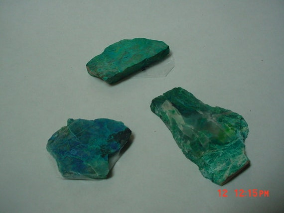 Small Rough Turquoise Chrysocolla With Malachite Stone Slabs Wire Wrap Cutting Material Outstanding