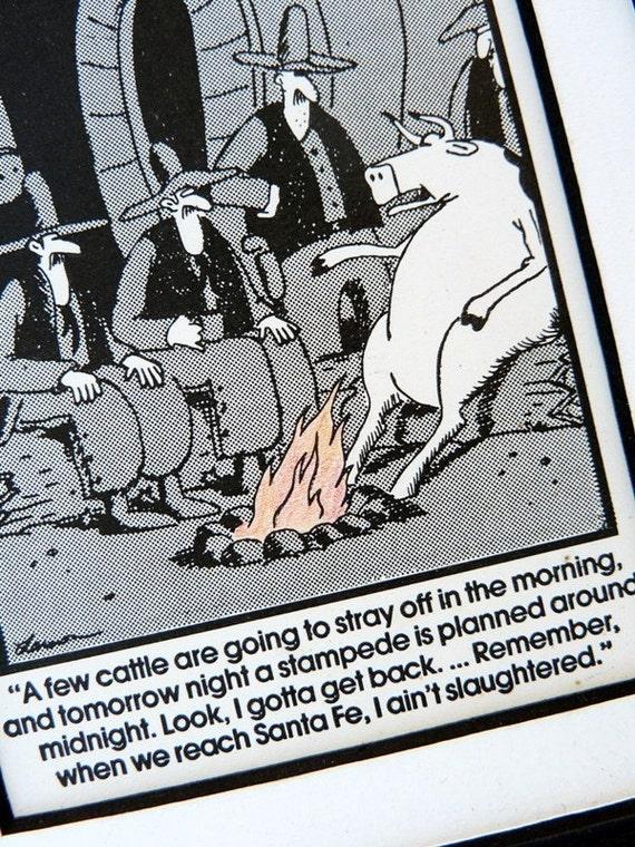 Santa Fe Cattle Stampede Far Side Cartoon