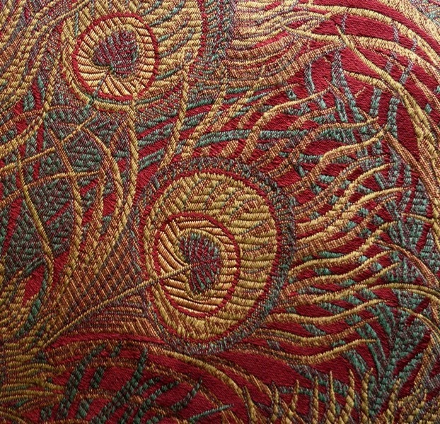 Peacock Tapestry Upholstery Fabric 5 1 8 Yards 55 Inch