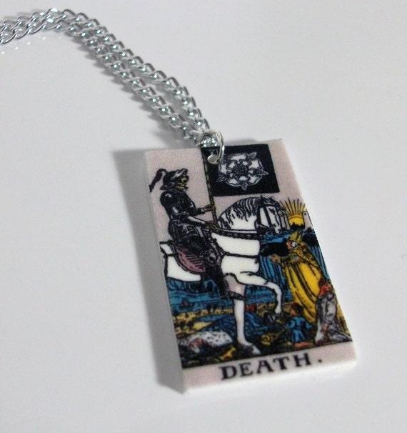 The Death Tarot Card Necklace