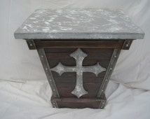 Sidewall Table with Cross Gothic Design #38