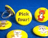 Pick Four Bots Interchangeable Ring Set