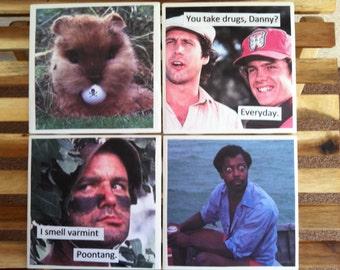 Caddyshack novelty coasters -Set of four- Funny Quotes