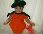 Pumpkin Costume for Doll