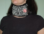 2 in 1 Scarflette black and white