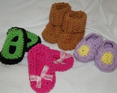 4 Baby shoes in assorted styles