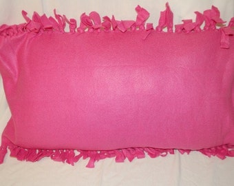Fleece Pillowcase in Hot Pink
