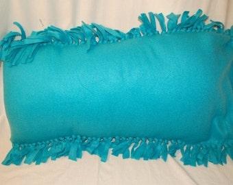 Fleece Teal Pillowcase