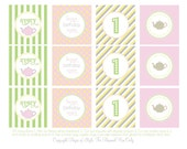 DIY Printable Party Circles - Pastel Tea Party