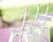 DIY Printable Straw Flags - Garden Tea Party