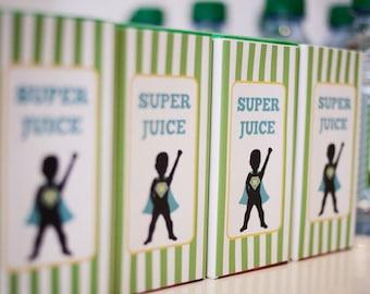 DIY Printable Juice Box Wraps - Superhero Party