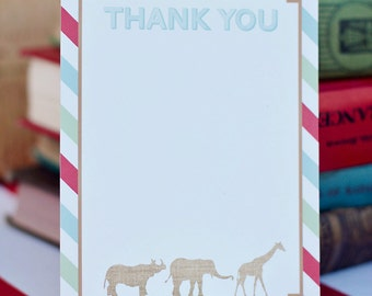 DIY Printable Thank You Card - Zoo/Safari Party