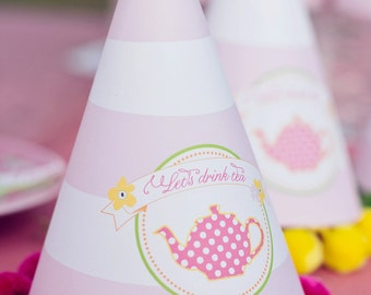 DIY Printable Party Hat - Garden Tea Party