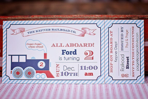 Train Birthday Invitation- Printable
