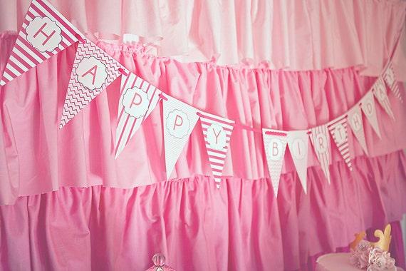 Printable Princess Happy Birthday Banner
