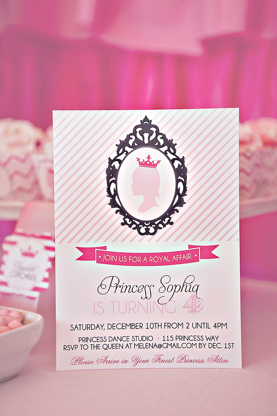 DIY Printable Princess Party Invitation