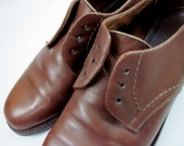 SALE - 80s Classic Coach Oxfords in Saddle Brown Size 7.5 - 7 1/2
