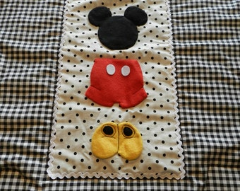 Mickey Mouse Stroller/Pack n Play Quilt