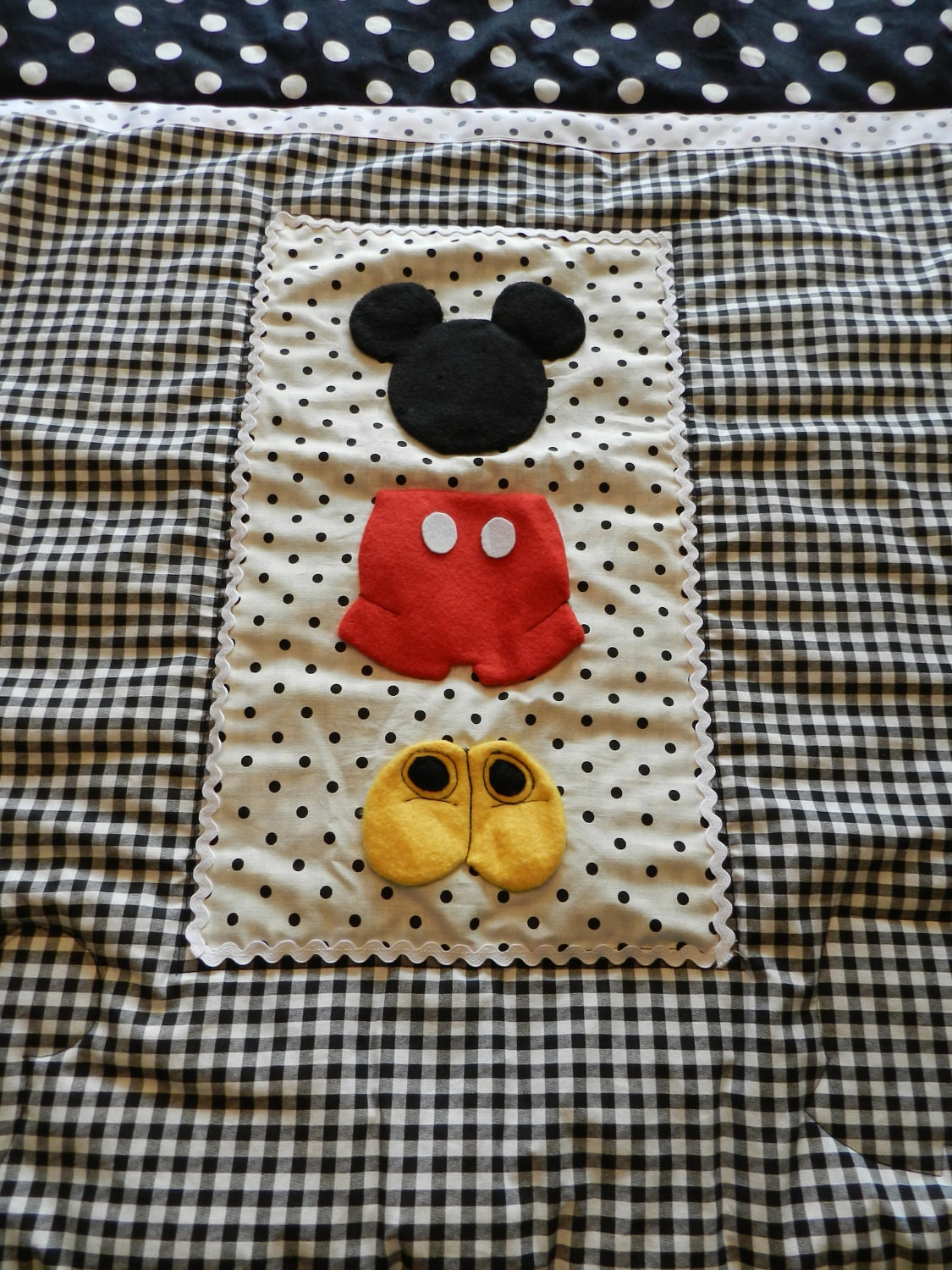 Mickey Mouse Stroller Pack N Play Quilt By