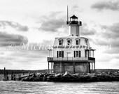 Nautical Lighthouse Photograph Bug Lighthouse Print