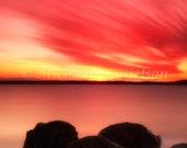 Sunset Beach Color Sky Photo 8x10