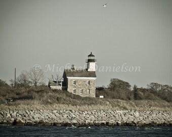 Nautical Photograph Lighthouse Plum Light Print