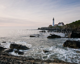 Photograph Nautical Portland Lighthouse Portrait 8x10