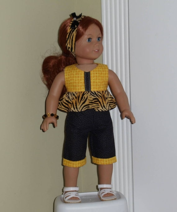 Purr... fect Capri Outfit Fits American Girl and Other 18 Inch Dolls