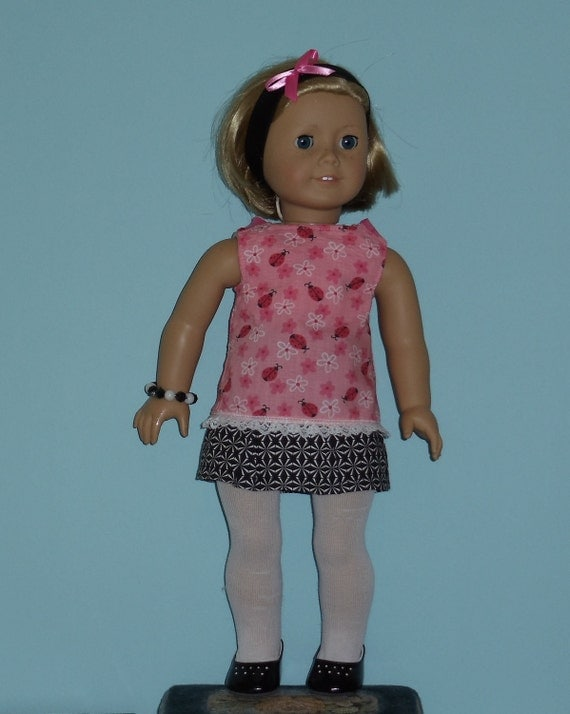 American Girl Doll Ladybug Mini Skirt Outfit Fits Other 18 Inch Dolls