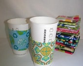 FREE SHIPPING --- Eco-Friendly Reuseable Coffee/Tea Sleeve --- Vintage Paisley