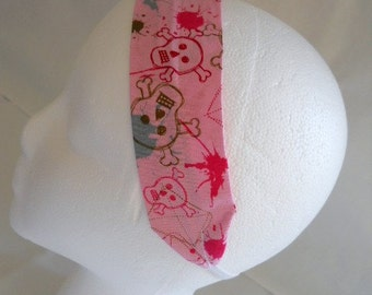 FREE SHIPPING --- Headband - Adult/Teen Size - Robert Kaufman Bad to the Bone