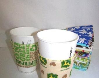 FREE SHIPPING --- Eco-Friendly Coffee/Tea Sleeve --- John Deere
