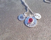 Personalized Necklace Name with Sport or Activity Hand Stamped Sterling Silver - Graduation Gift  - Gifts for Her - 2016