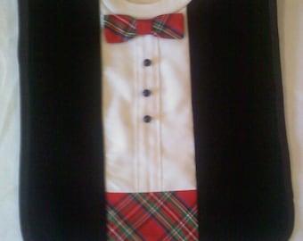 Handmade Tuxedo Bib for Infant, Toddler