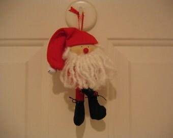 Jingly Santa Ornament