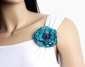 Brooch accessory for clothes, bag, hair or anywhere. Handcrafted, one of a kind