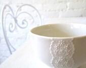 Lovely porcelain lace bowl