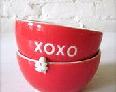 XOXO Angel Red Bowl - Good for Valentines Gifts
