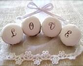 Valentine's, Christmas, Wedding Gift - LOVE - Ceramic Macaron Sachet-Fragrance Object