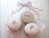 Personalized Valentine's day gift, Ceramic Macaron Fragrance Object