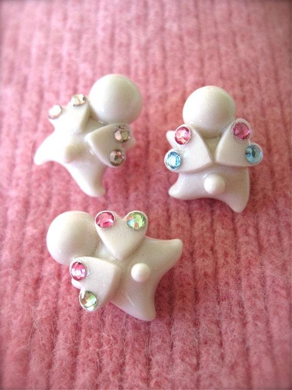 Handmade Your Little Angel with Swarovski Crystal Pin Brooch
